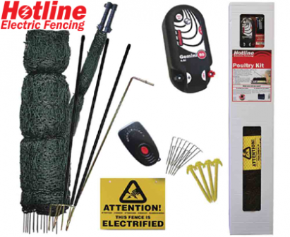 25m Poultry Electric Netting Kit