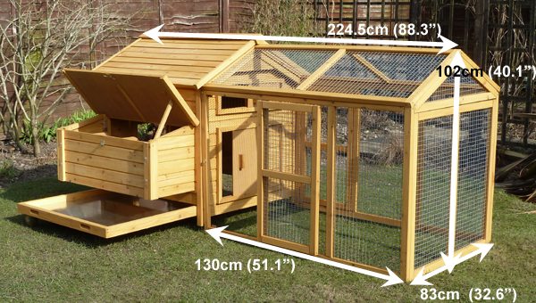 Devon hen house with run measurements