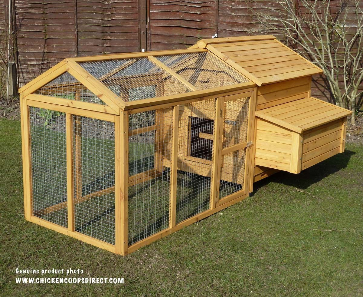 Devon chicken coop with run attached