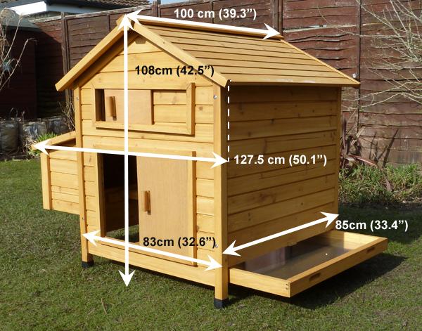 Devon hen house measurements