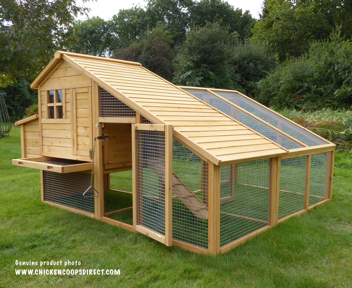 Sussex chicken coop with run