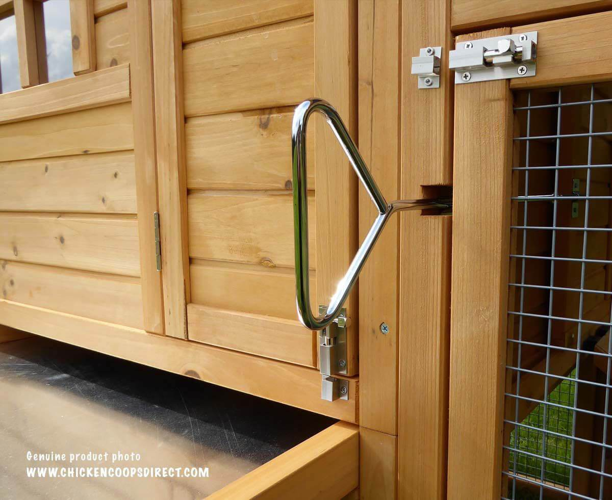 Coop door opening mechanism