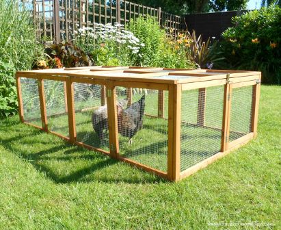 Large Folding Chicken Run