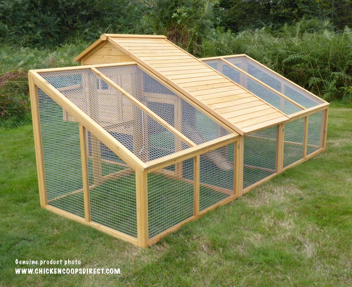 chicken coops with double run
