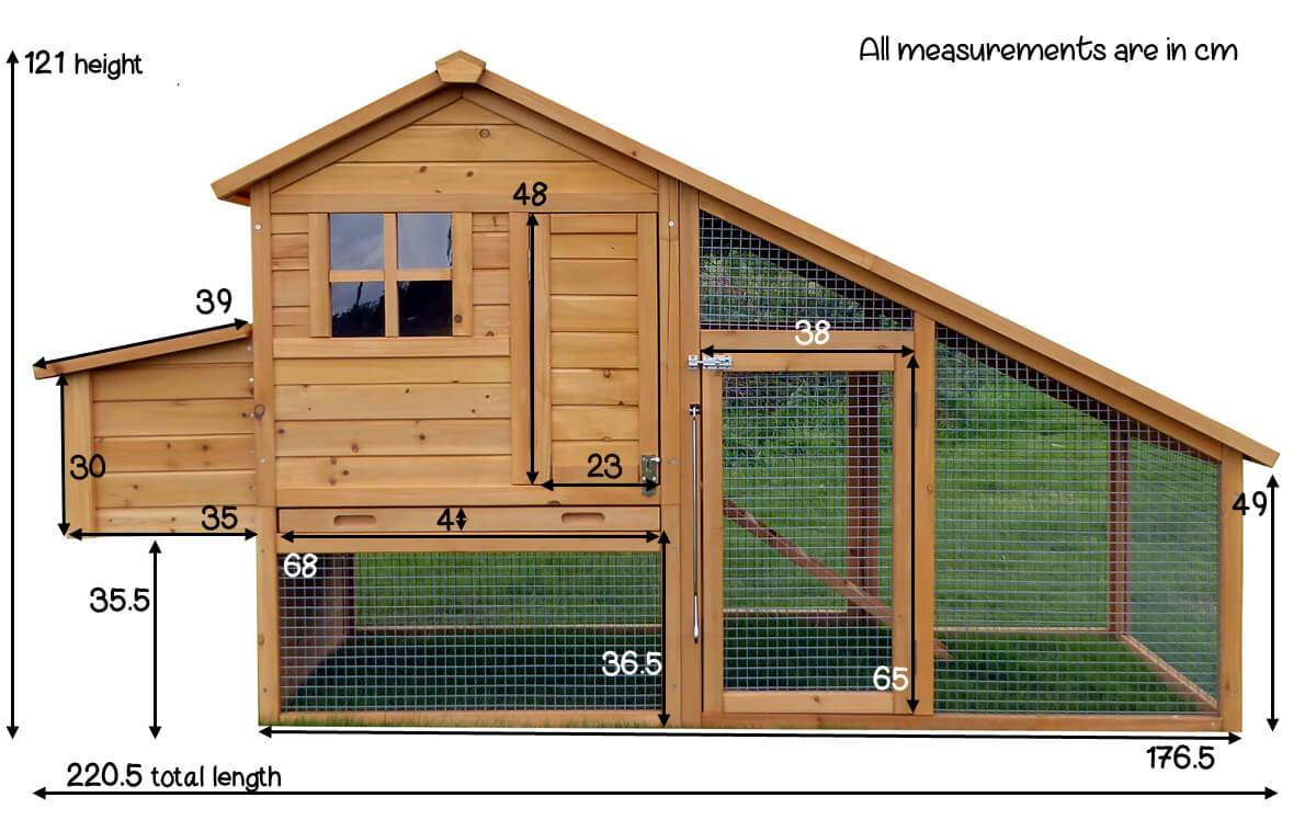 Size of Sussex Chicken House
