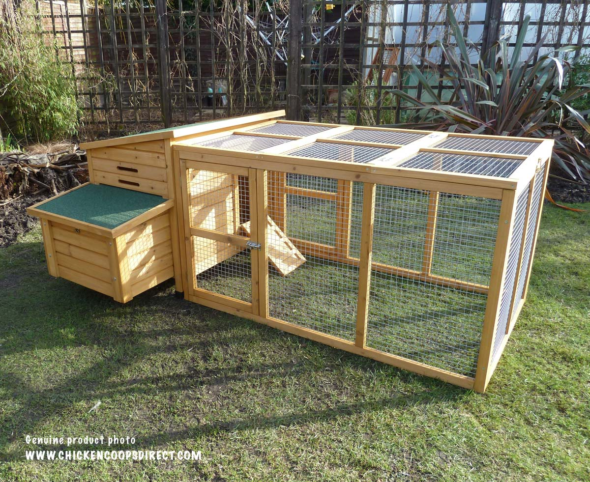 Kent chicken coop with run for Chicken coop size for 6 chickens