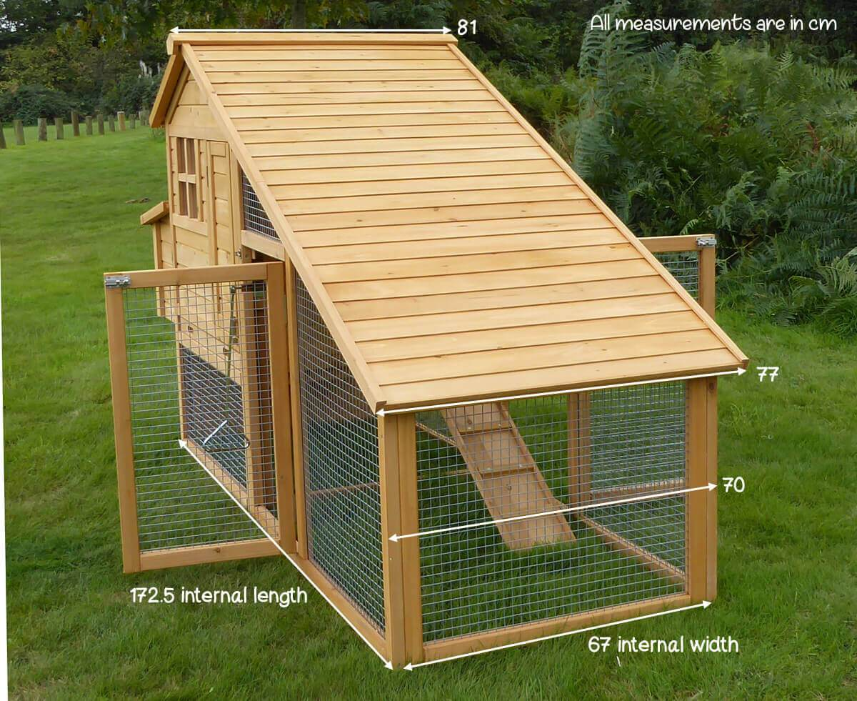 Width of Sussex Chicken Coop